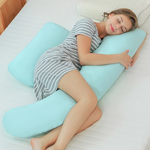 Coussin femme enceinte Protégez la taille Coussin latéral Oreiller Polyvalent Oreiller Coussin taille Attention à l'abdomen Corriger la position du fœtus Réglable Coussin d'allaitement Détachable 100% coton Multi-couleurs optionnelles