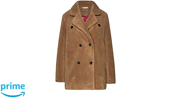 Tommy Hilfiger Bonnie Teddy Peacoat brown | dress for less