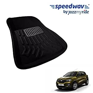 Speedwav Perfect Fit Car 3D Floor Mats Set of 4 Black-Renault Kwid
