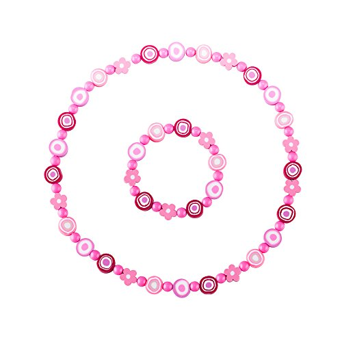 minihope niños joyas–Collar Pulsera De Perlas De–Juego de flores para las niñas–de los niños joyería Set
