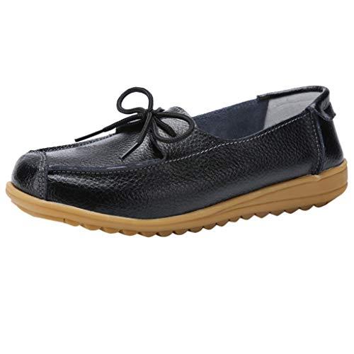 BURFLY Frauen Rutschfeste Flache Schuhe einfarbig Casual Schuhe Krankenschwester Schuhe Mutter Schuhe einzelne Schuhe