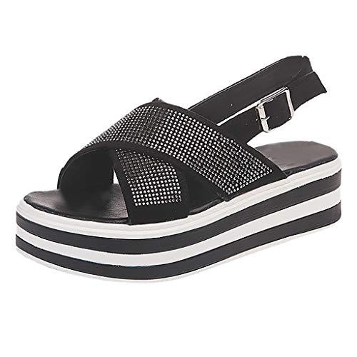 cinnamou Strandschuhe Unisex,Strandschuhe Damen Damen Sandalen Sommer Weiche Sohle Schuhe Dicke Untere Sandalen Muffin Bottom Schuhe