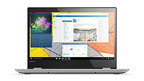 Lenovo Yoga 520 35,6 cm (14,0 Zoll Full HD IPS Touch) Slim Convertible Notebook (i3-7100U Dual-Core, 4 GB RAM, 128 GB SSD, Intel HD Grafik 620, Windows 10 Home) grau