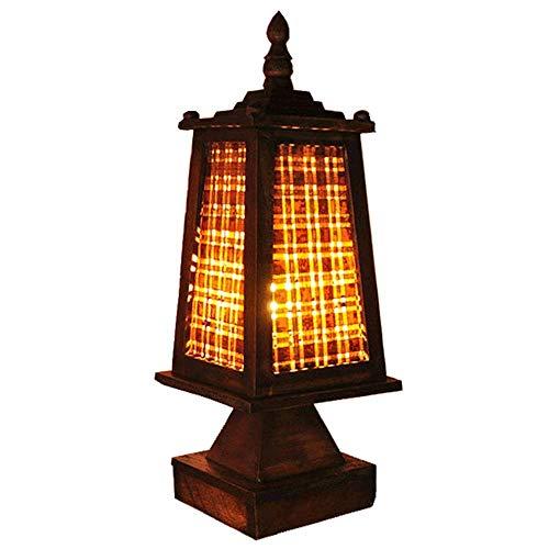 Letto A Castello In Bamboo.Hzc Lampe De Table Thai Retro Main Weave Bamboo Shade Lampe Rustique Chevet Vintage En Bois Lampe De Bureau Luminaires Pour Salon Chambre A Manger