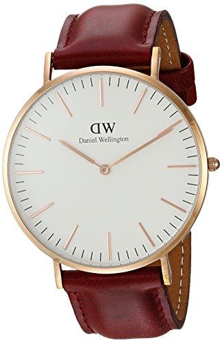 Daniel Wellington Reloj Analógico para Hombre de Cuarzo con Correa en Cuero DW00100120