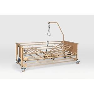 Burmeier Pflegebett Dali II mit Metallseitengitter Krankenbett Seniorenbett 90 x 200 cm