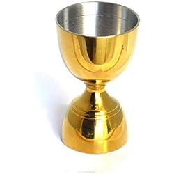La taza MEASUREING HUPPYNUTS 5/6 angelsharkseries e 1-2/3 oz de doble barra de acero inoxidable Medidas trofeo de vaso de cóctel