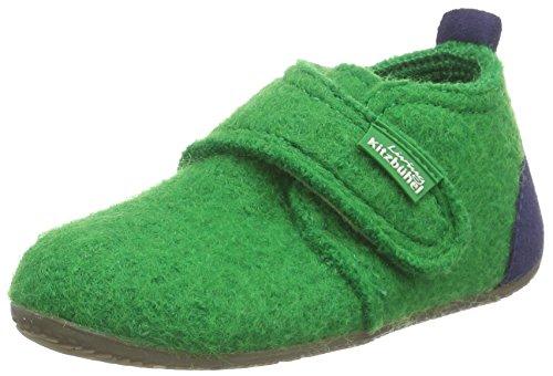 Kitzbühel Babyklettschuh Mit Velour Vivre - Chaussures Premier Bébé Étapes Laine - Unisexe, Gris, Taille 19