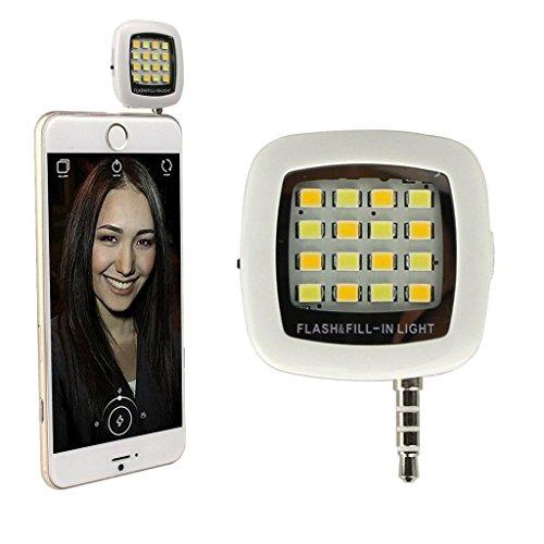 Flash Light, EONPOW portatile 16 LED Smartphone flash Fill-luce per Android, IOS e WP8 cellulari e tablet, notte usando Selfie Migliorare Flash Light, facilmente avere Naturel Flash per Apple Iphone, iPad, Android Windows Phone