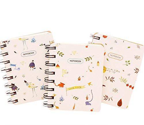 Chytaii - 1 quaderno con spirale, diario, quaderno A7mini portatile, con copertina rigida disegnata