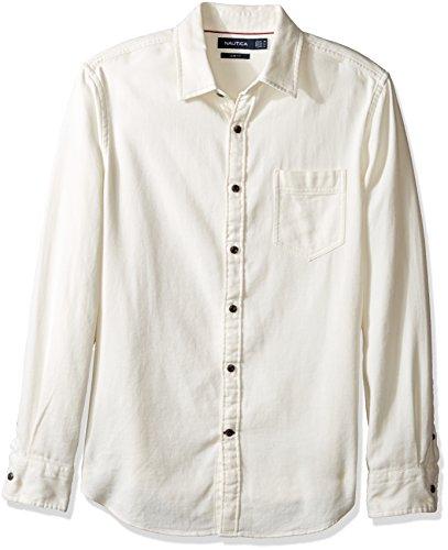 Nautica Herren Button-down-Hemd Gr. M, Marshmallow - Nautica Herren Hemd