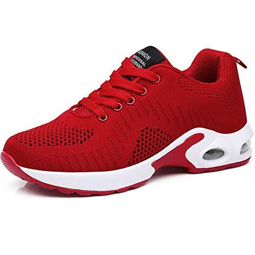 GAXmi Zapatillas Deportivas de Mujer Air Cordones Zapatos de Ligero Running Fitness Zapatillas...