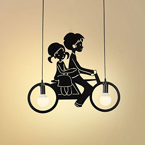 GRFH Creative LED Restaurant Fahrrad Pendelleuchten Kostüm Shop -