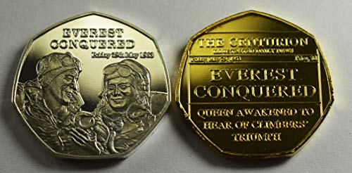 The Commemorative Coin Company Everest Conquered Silver and Gold Gedenkmünzen 20th Centurion Series ALBEN / 50P Münzjagd Sammler Edmund Hillary Tenzing NorGay