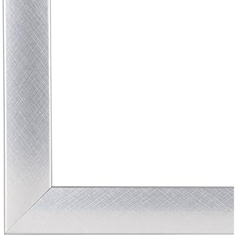 Marco de foto, Marco de cuadro, marcos de imagen OLIMP, 76x114 cm o 114x76 cm in ALU CRISS CROSS, con vidrio de plástico con antireflejante varios tamaños, marco de MDF con una lámina decorativa (totalmente revestido) , 35 mm de ancho