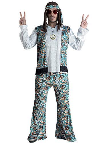 chiber Disfraces Herren Hippie Kostüm,