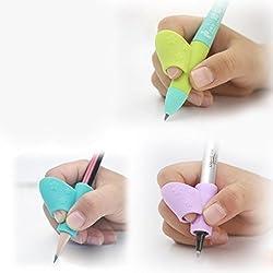 Cinnamou Pencil Grip, 3 piezas/set los niños Lápiz Soporte pluma escritura ayuda agarre postura corrección herramienta nuevo (una variedad de opcionales) (pencil grip 3 piezas set los niños-A)