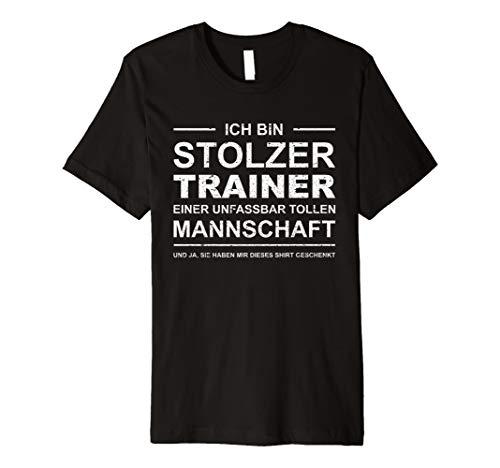 Stolzer Trainer T-Shirt | Fußball Handball Volleyball Retro -