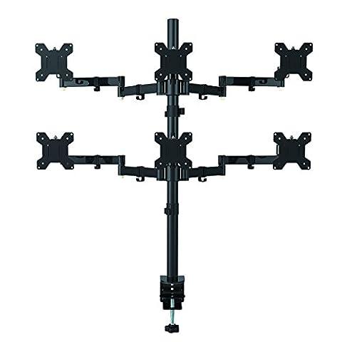 Suptek hexagonale Moniteur LCD pour bureau support support résistant et entièrement réglable 6 écrans jusqu'à MD68126