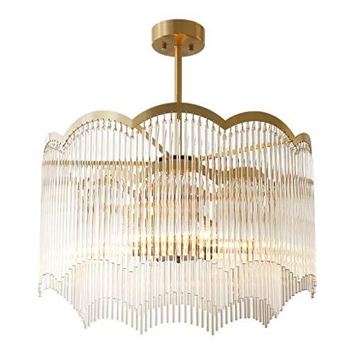 RRC-Lámpara Araña de cristal, lámpara de techo para el hogar, sala de estar, totalmente de cobre Restaurante creativo Dormitorio cálido Estudio con luz colgante [Clase de eficiencia energética A +] Il