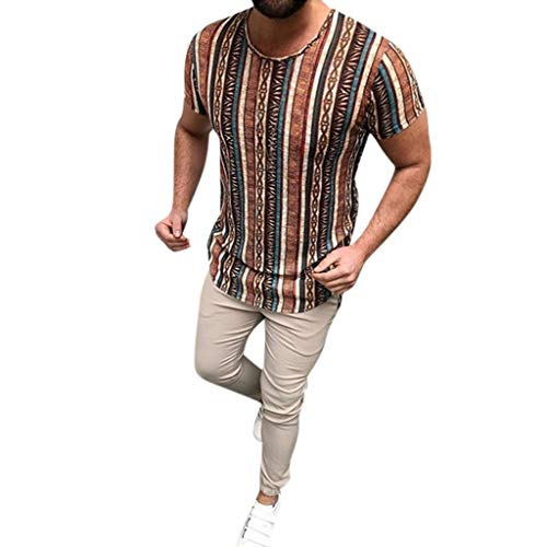 Luckycat Sport T-Shirt Herren Slim Fit Kurzarm Shirt Bluse für Jogging Yoga Männer Tops T-Shirt Herren Oversize Vintage Style Crew-Neck T-Shirt Irregulär Sweatshirt Kurzarm Hedging Slim Fit Bluse