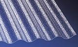 Acryl Wellplatten Profilplatten Sinus 76/18 C-Struktur klar 2500 x 1045 x 3,0 mm