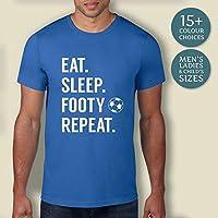 Men's Eat Sleep Footy Repeat Football Shirt, Football T-Shirt, Mens Football Shirt, Football Gift Idea, Boys Gift, Mens Gift, Football Fan