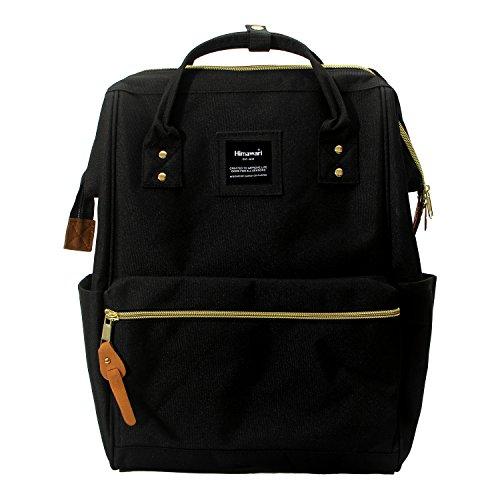 Himawari Polyester Laptop Daypack Vintage Schultertasche Für 13-Zoll Laptop schwarz
