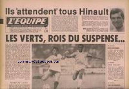 EQUIPE (L') [No 10351] du 25/08/1979 - HINAULT - LES VERT ROS DU SUSPENSE - ESCRIME - RIBOUD.