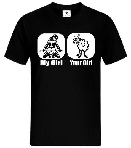My Girl Your Girl T-Shirt Fun Shirt Lustig Kult Shirt mycultshirt Herrentag JGA Schwarz