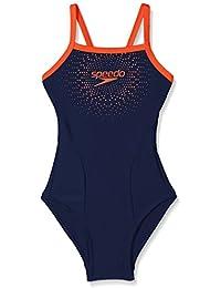 Speedo Girl Kids Gala Logo Thin Strap Muscle Back Swimsuit