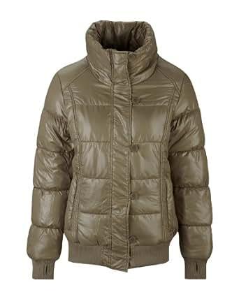 Bench Damen Jacke Jacke Shine ON Braun (shitake) Medium