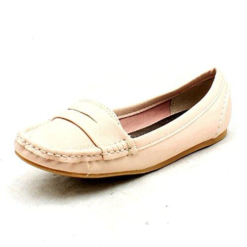 stile mocassino piatto signore scarpe / pompe Rosa