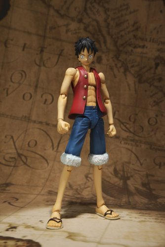 One Piece Bandai S.H. Figuarts 6 Inch Super Articulated Figure Monkey D. Luffy (japan import) 7