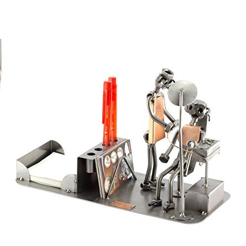 Steelman24 I Schraubenmännchen Zahnarzt Büro Organizer I Made in Germany I Handarbeit I Geschenkidee I Stahlfigur I Metallfigur I Metallmännchen