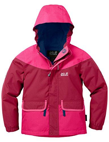 Jack Wolfskin Mädchen Glacier Bay Jacket Girls Jacke Wattiert, Azalea Red, 140