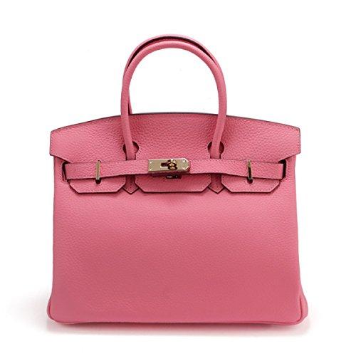 WU Zhi Lady In Pelle In Pelle Goffrata Di Spalla Borsa Pink