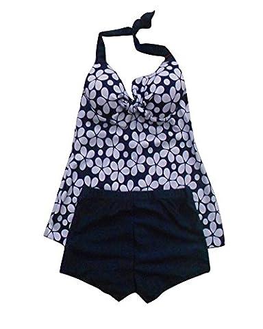 SaiDeng Swimsuit Women Swimwear Push Up Tankinis Dot Pattern Spring Fashion Ladies Swimwear Marine M