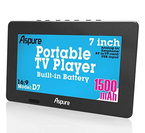 7 Inch portátil pequeño LED TV Digital DVB-T Coche