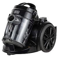 Black+Decker 1480w Bagless Multicyclonic Canister Vacuum Cleaner, Black - VM1480-B5