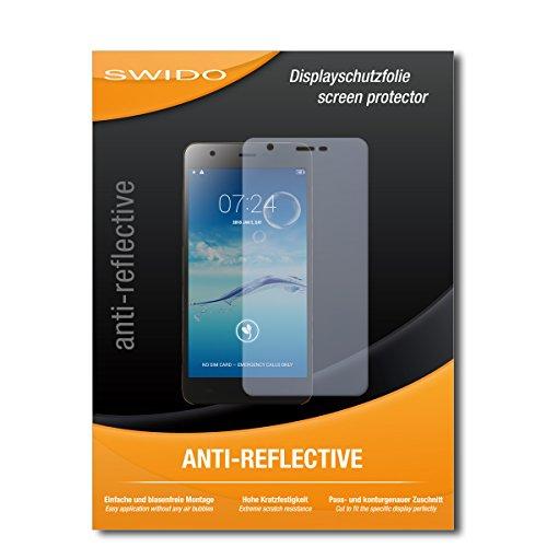 SWIDO Schutzfolie für Jiayu S3+ [2 Stück] Anti-Reflex MATT Entspiegelnd, Hoher Härtegrad, Schutz vor Kratzer/Displayschutz, Displayschutzfolie, Panzerglas-Folie