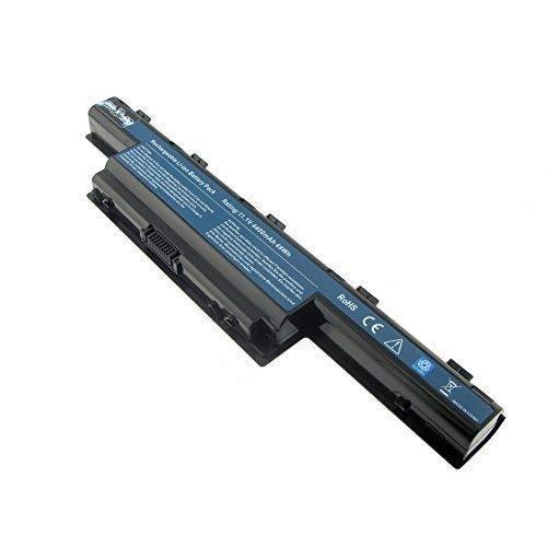 Mtxtec Batterie Rechargeable, Lion, 11.1V, 4400mAh, Noir, pour Acer Aspire V3-772G