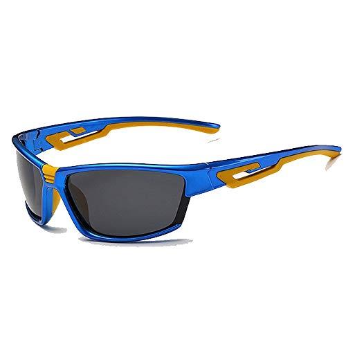 BJYG Sportsonnenbrille Farblich passende Mode Sportsonnenbrille Persönlichkeit Unisex Polarisiert UV400 Schutz Fahren Reiten Laufen Angeln Golf Outdoor Sport Picknick Baseball Fahren Entspannung