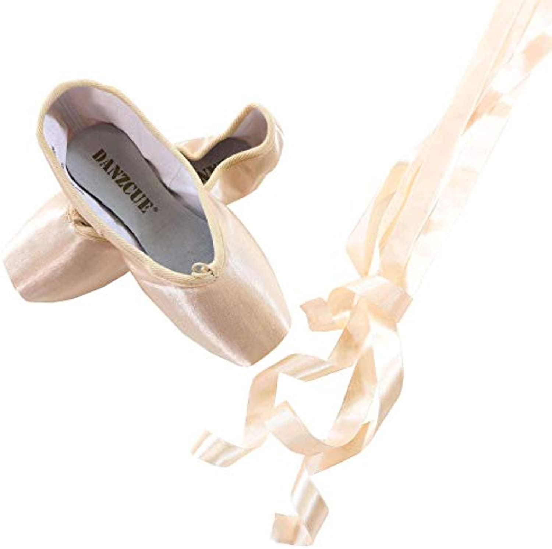 Danzcue Scarpe da Ginnastica in Punta Dura con Fiocco per Donna | Primo nella sua classe  | Scolaro/Signora Scarpa