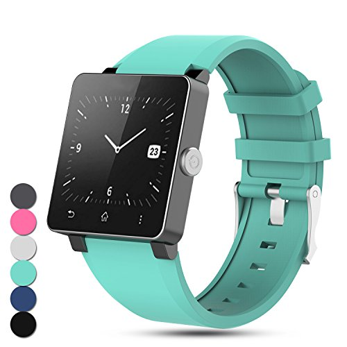 Feskio For Sony Smartwatch 2 SW2 Strap, Adjustable Replacement Soft Silicone Band...