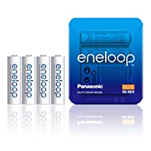 Panasonic eneloop AA Rechargeable Ready-To-Use Ni-MH Batteries, Pack of 4. (BK-3MCCE/4LE)