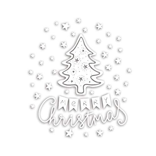 iStary 2018 Wundervoll Weihnachtsaufkleber Aufkleber Weihnachten Explosion Fenster Glas Wohnzimmer Wandtattoo Weihnachtsverpackung Adventsaufkleber