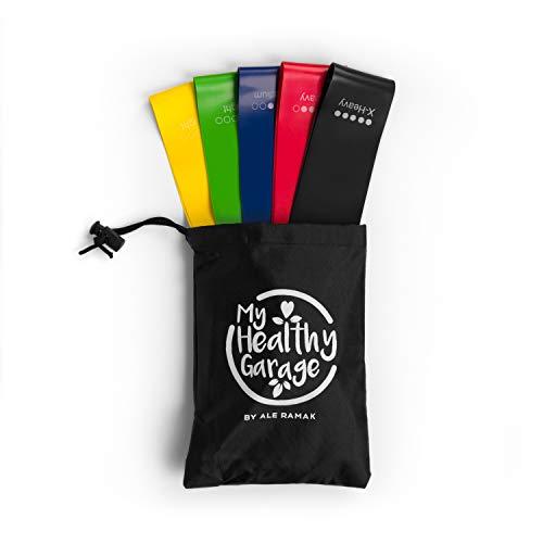 Fitness Bands elastisch | fitnessbänder set+Tasche|Widerstandsbänder für training zuhause|resistance bänder für crossfit, pilates, gym, sports|Gymnastikbänder, workout Übungsbänder
