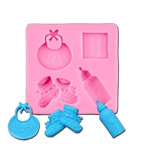 Suboer Schnuller Silikonform Sugarcraft Fondant Kuchen Dekorieren Werkzeuge Schokolade Mold Cookie Backen #061