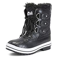 Womens Snow Boot Nylon Short Winter Snow Rain Warm Waterproof Faux Fur Boots